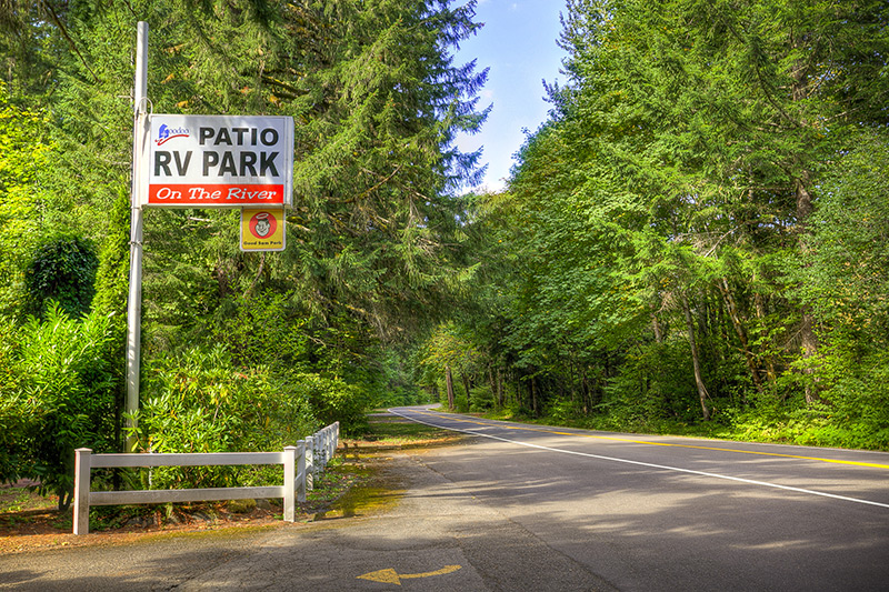 Awesome Patio RV Park Sign