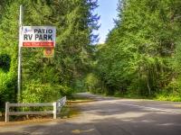 Patio RV Park Sign